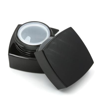 Баночка для крема черное стекло, 20 мл